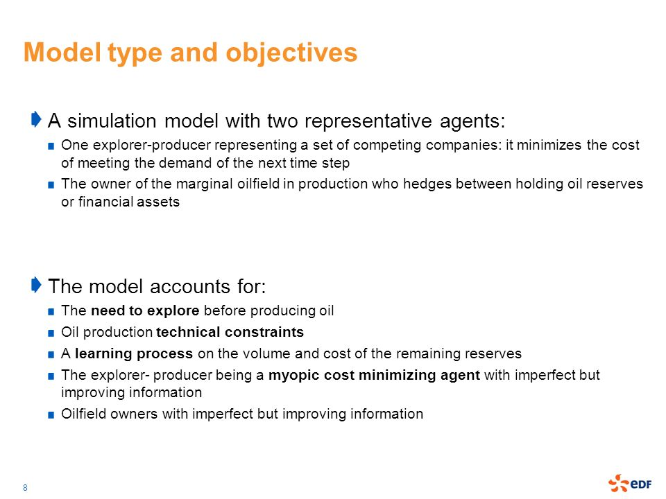Model type and objectives