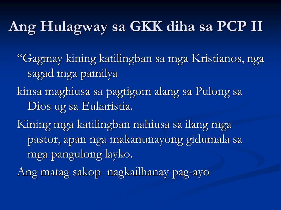 Ang Hulagway sa GKK diha sa PCP II