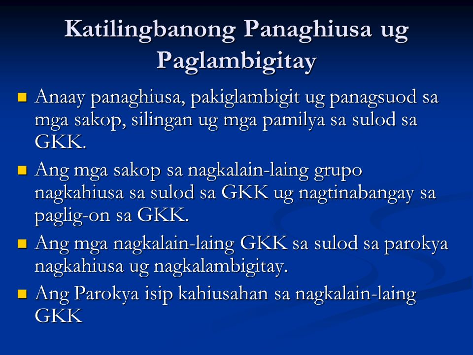Katilingbanong Panaghiusa ug Paglambigitay