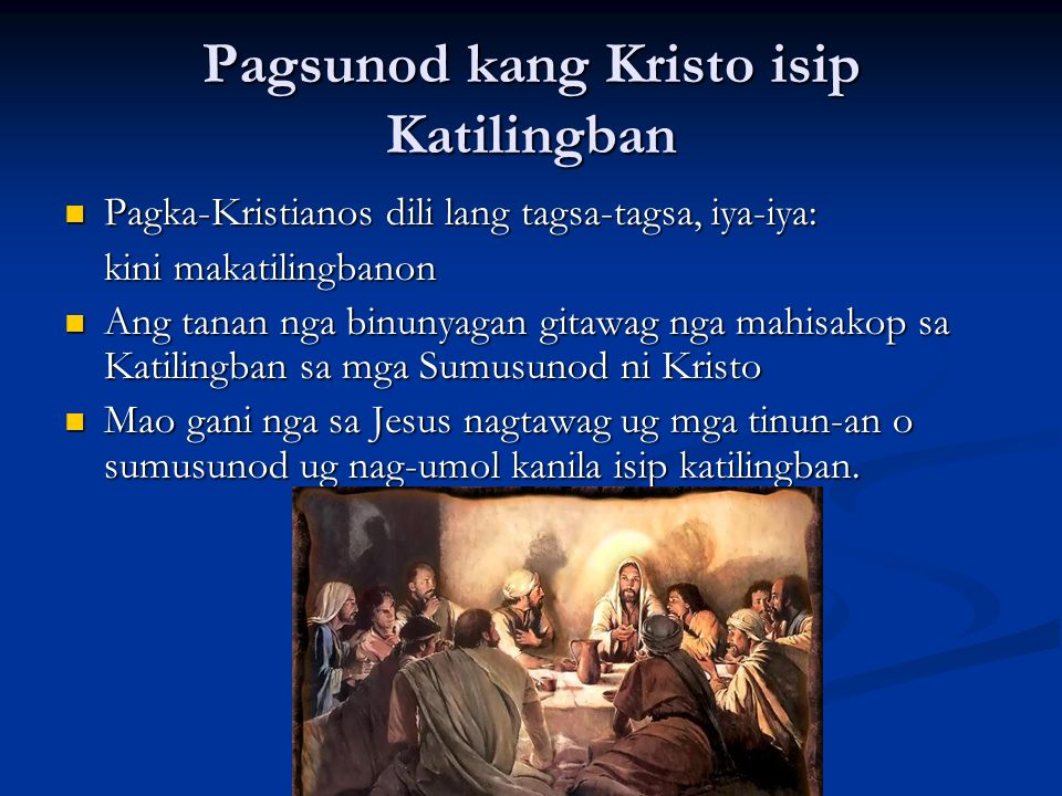 Pagsunod kang Kristo isip Katilingban