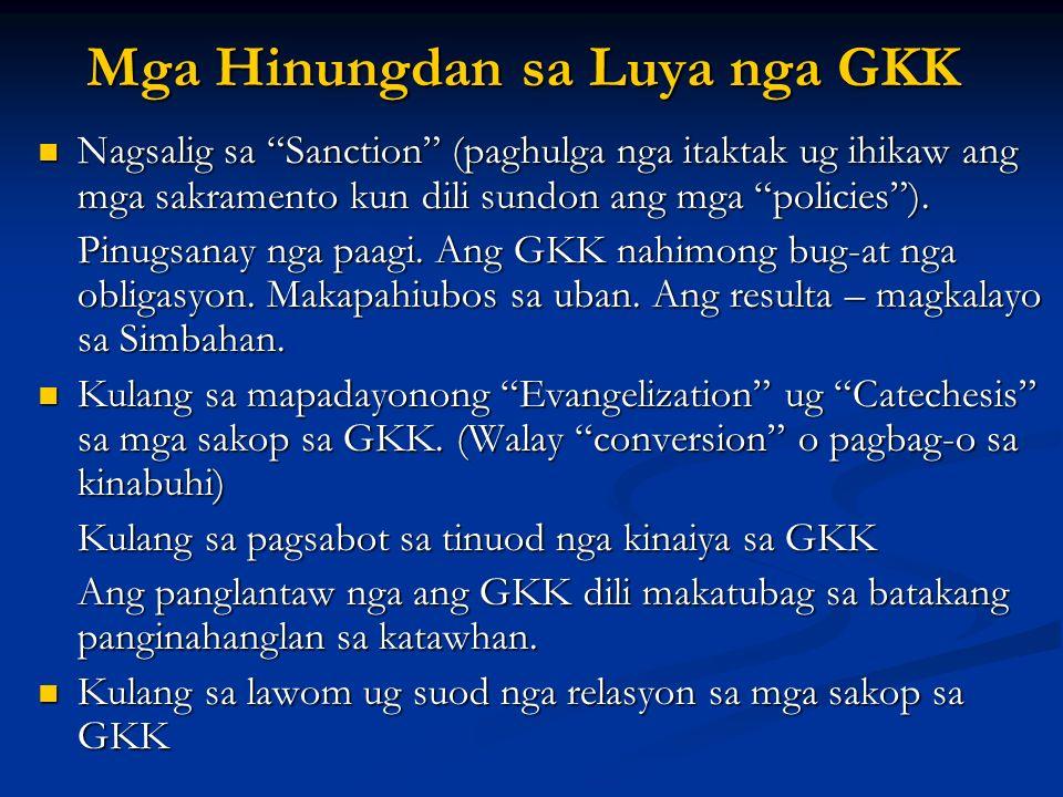Mga Hinungdan sa Luya nga GKK