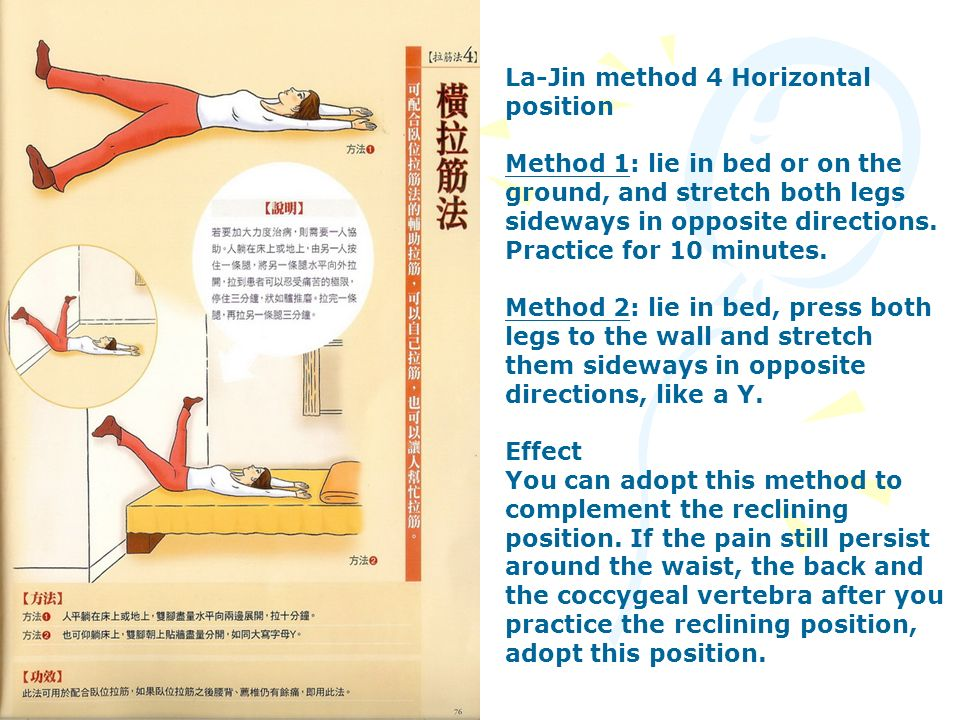 La-Jin method 4 Horizontal position
