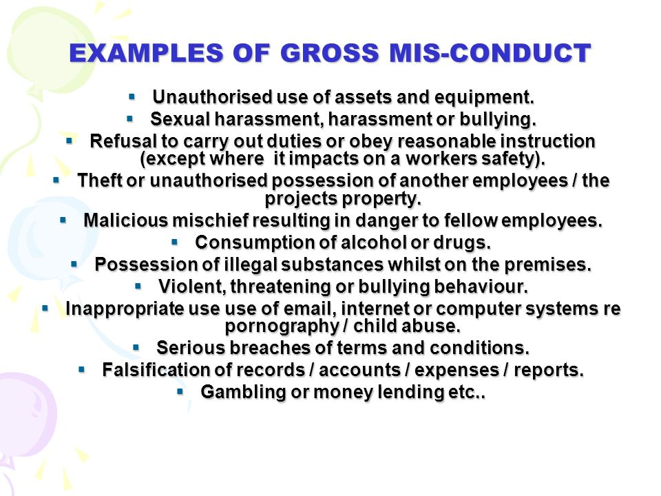3. WHAT IS A DISCIPLINARY ISSUE……