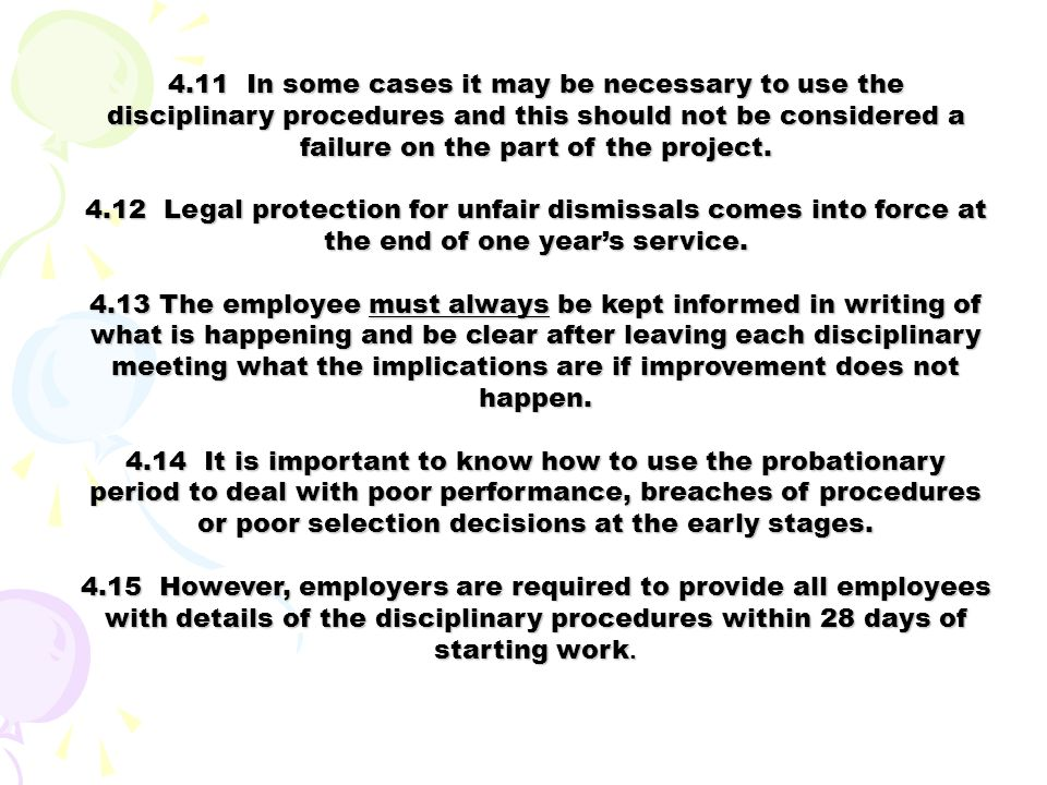 4.2 Important to have fair and equitable disciplinary procedures
