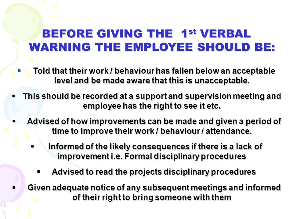 6. FORMAL STAGES OF THE DISCIPLINARY PROCESS