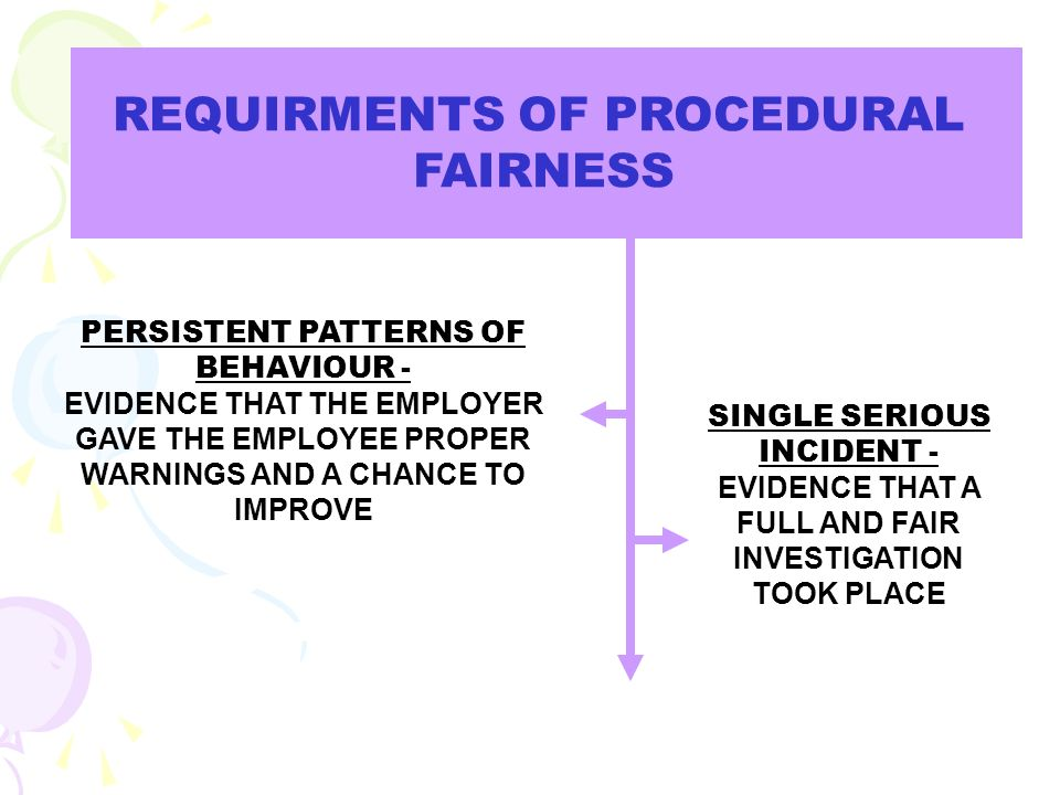 (Emphasis will be on the Employer to prove they acted fairly).