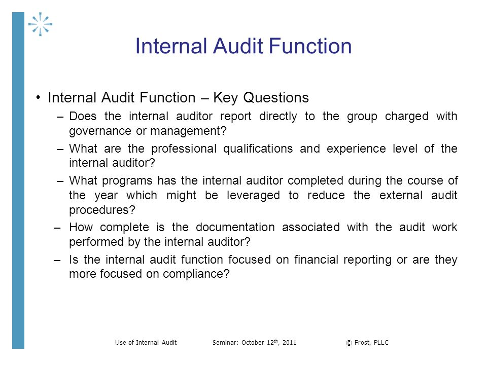 Financial Report Template The External Auditors Perspective And Use