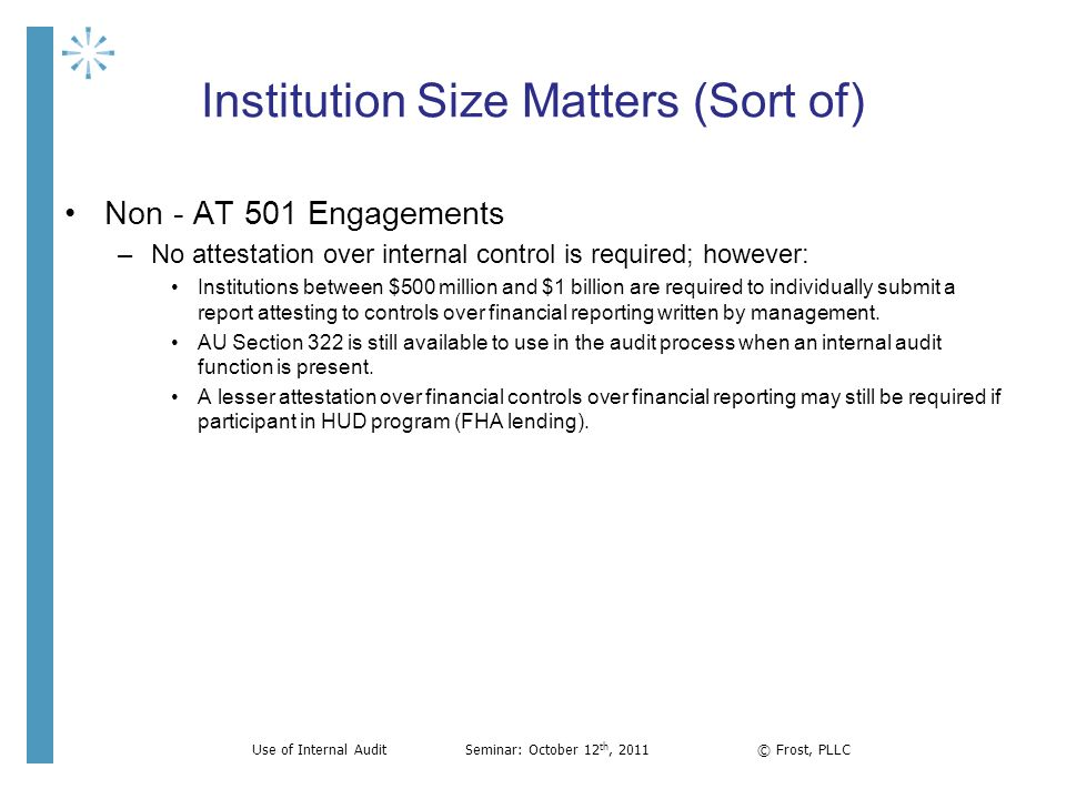 Institution Size Matters (Sort of)