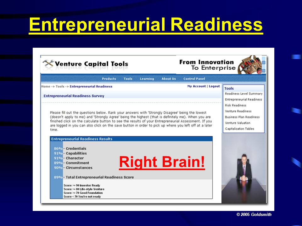 Entrepreneurial Readiness