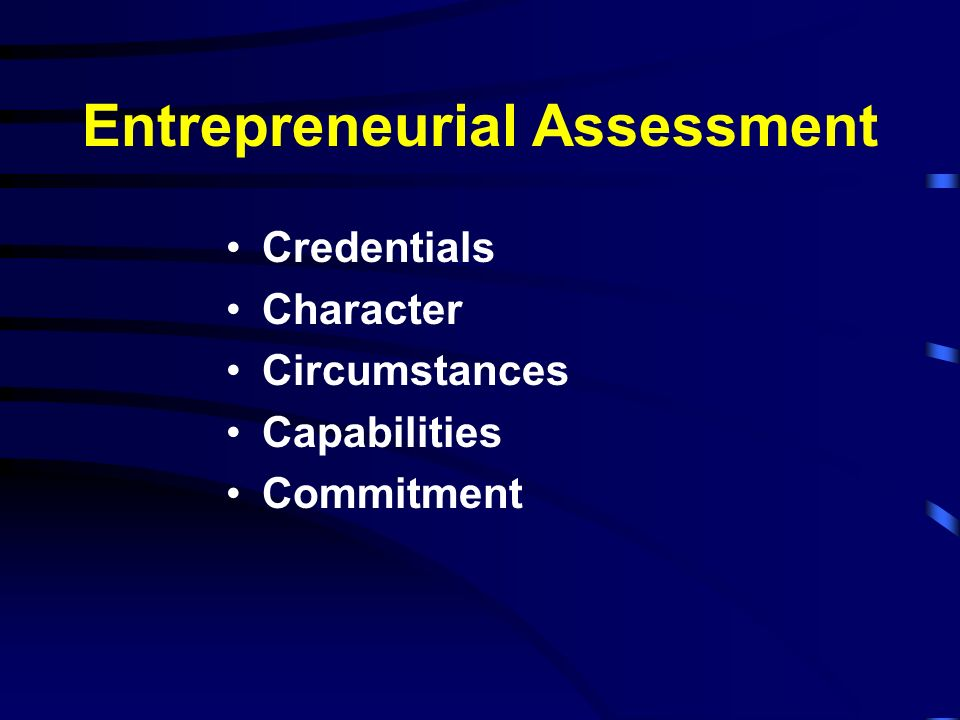 Entrepreneurial Assessment