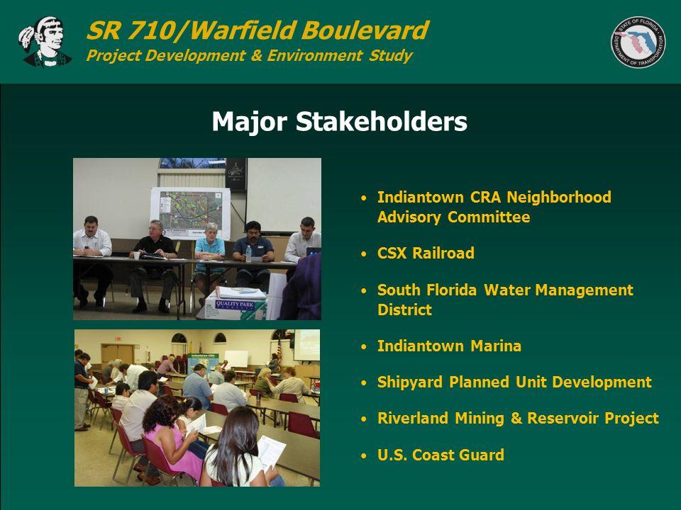 Major Stakeholders Indiantown CRA Neighborhood Advisory Committee