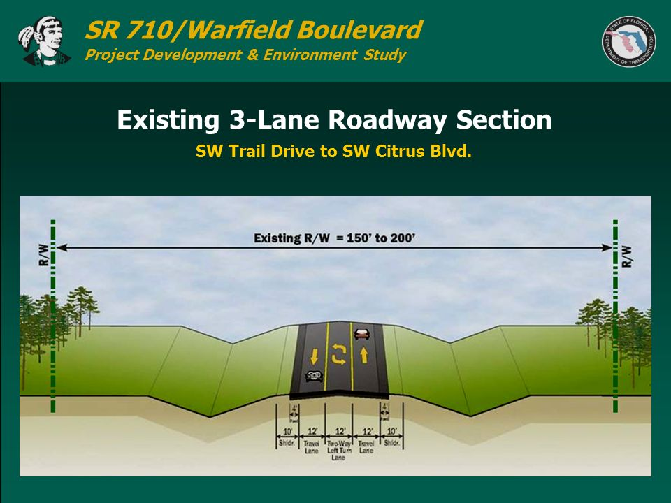 Existing 3-Lane Roadway Section
