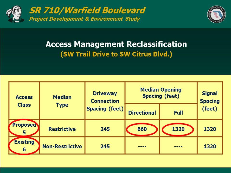 Access Management Reclassification (SW Trail Drive to SW Citrus Blvd.)