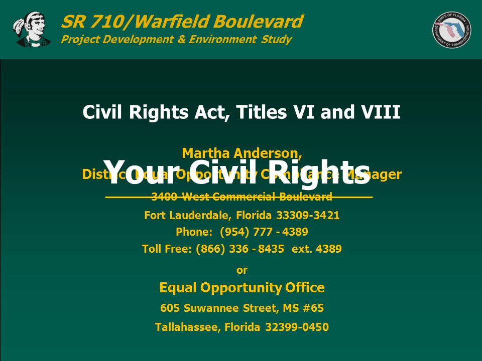 Civil Rights Act, Titles VI and VIII