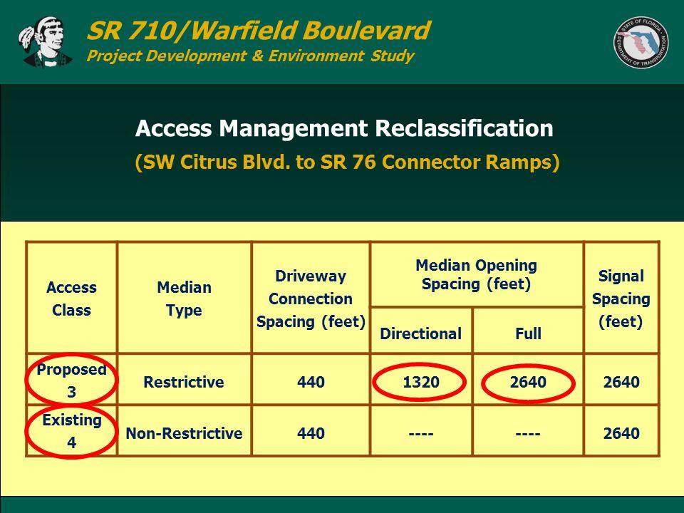 Access Management Reclassification (SW Citrus Blvd