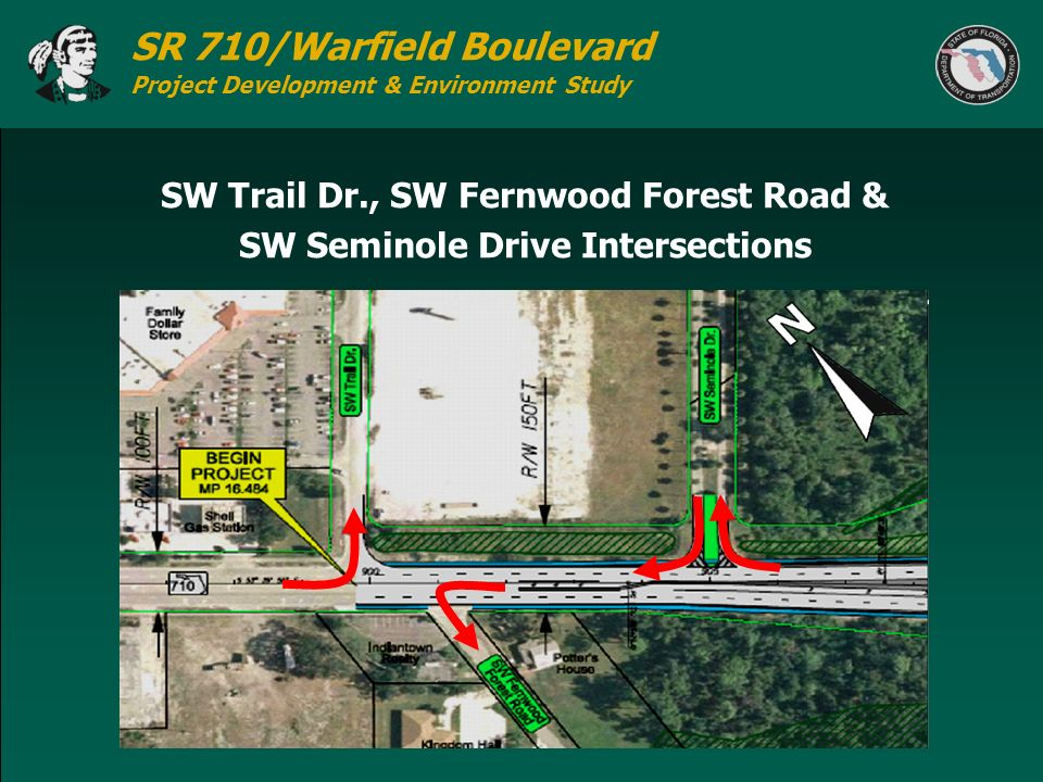 SW Trail Dr., SW Fernwood Forest Road & SW Seminole Drive Intersections