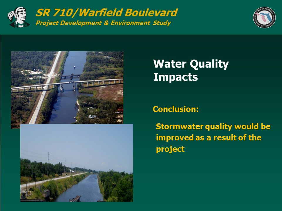 Water Quality Impacts Conclusion: