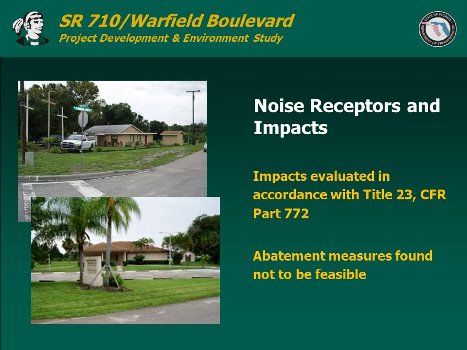 Noise Receptors and Impacts