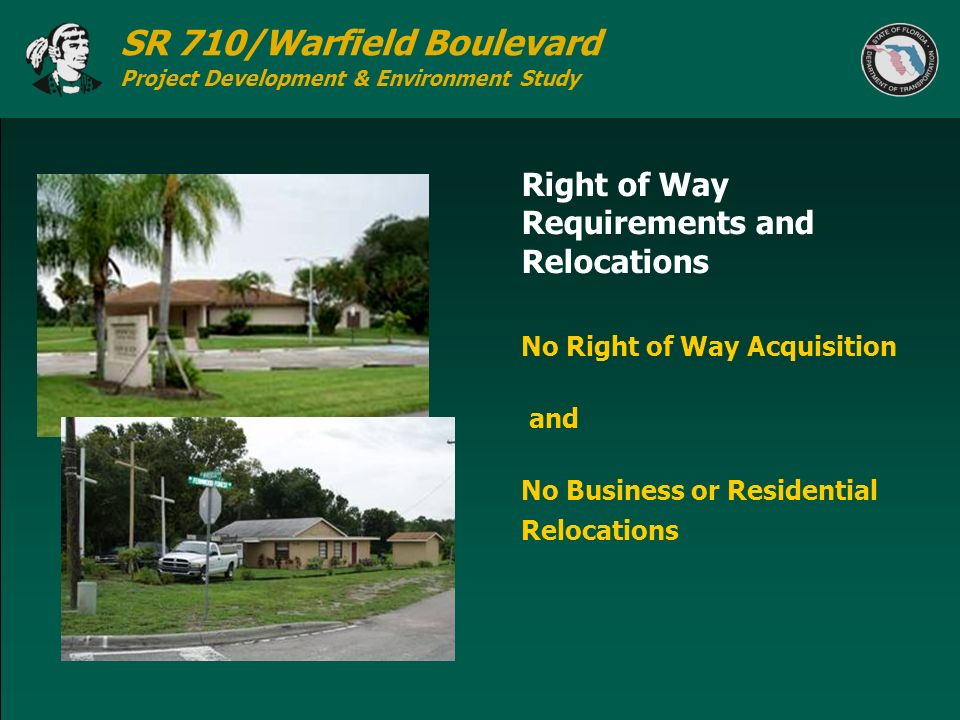 Right of Way Requirements and Relocations