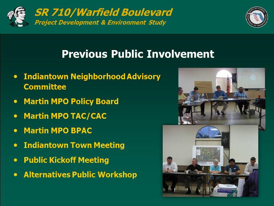 Previous Public Involvement
