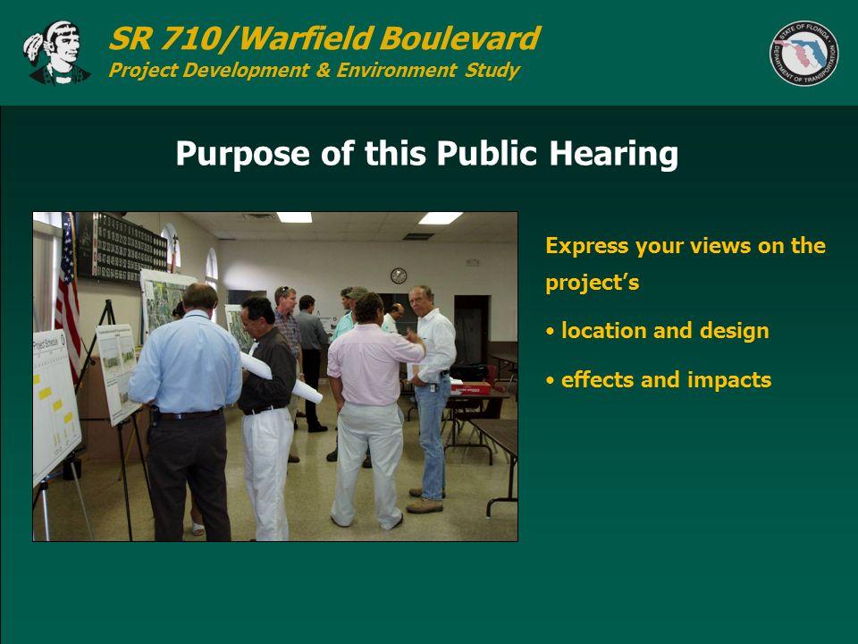Purpose of this Public Hearing