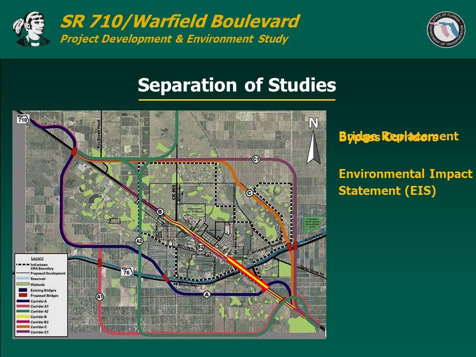 Separation of Studies Bypass Corridors Bridge Replacement