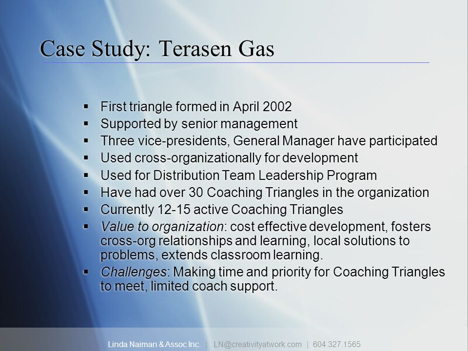 Case Study: Terasen Gas