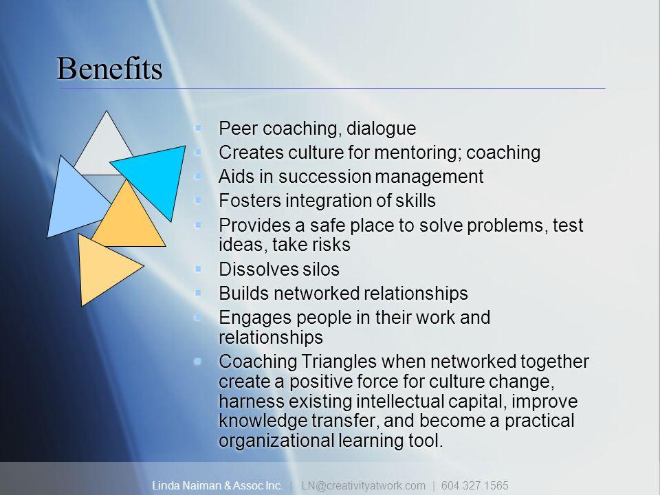 Benefits Peer coaching, dialogue