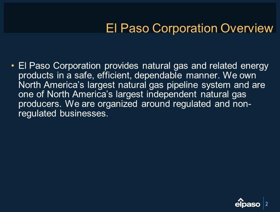 El Paso Corporation Overview