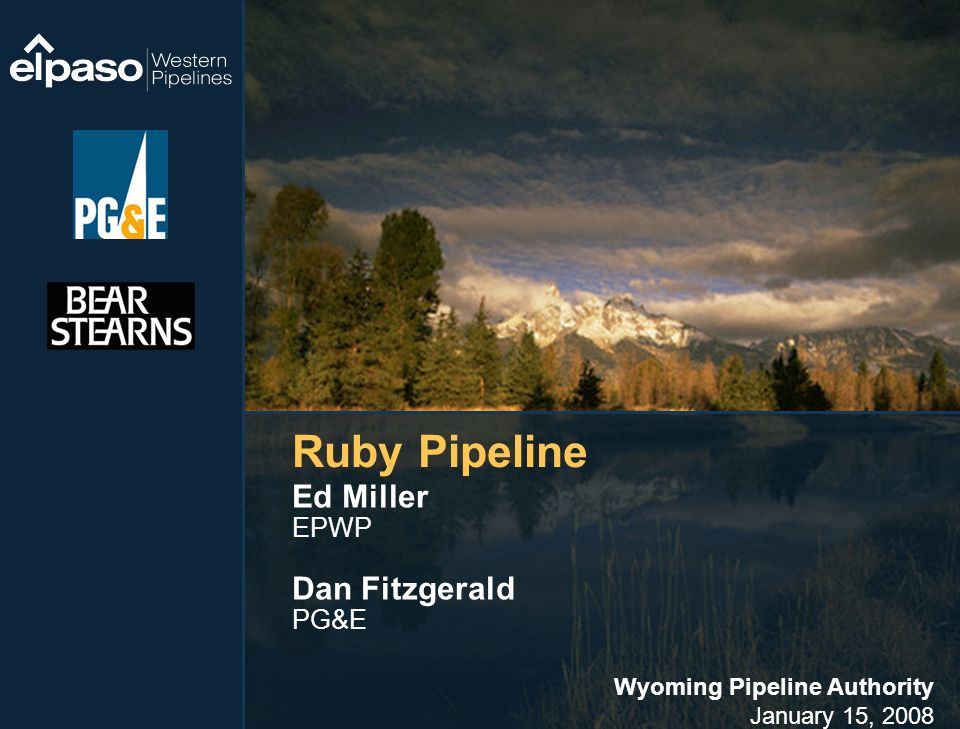 Wyoming Pipeline Authority January 15, 2008