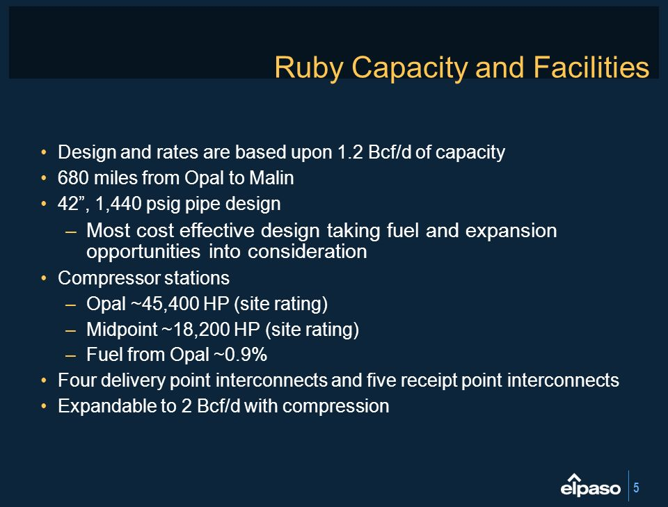 Ruby Capacity and Facilities