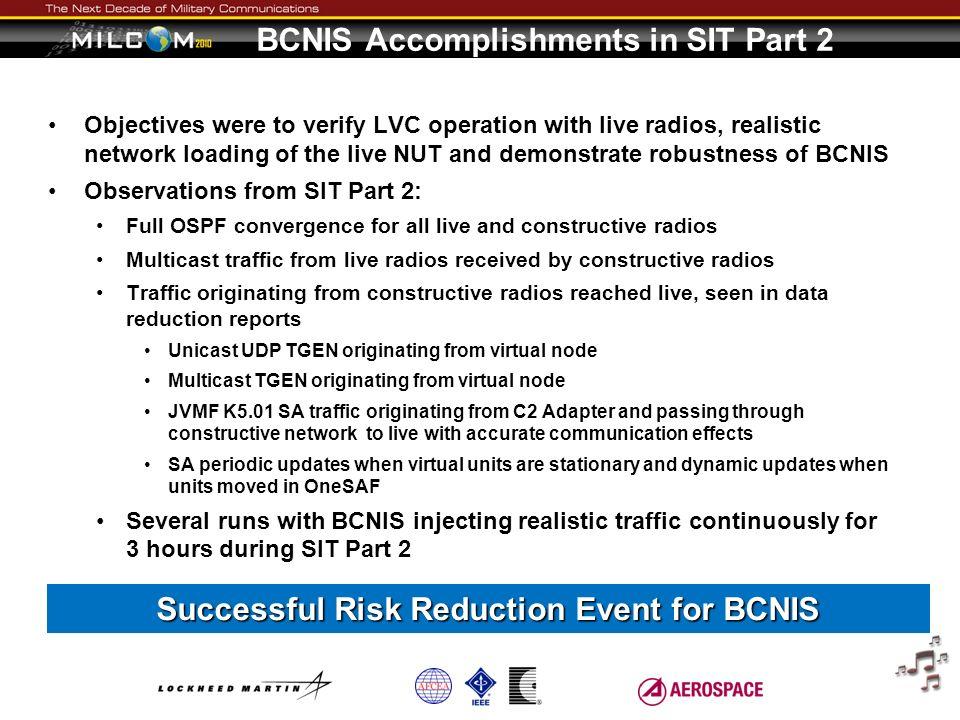 BCNIS Accomplishments in SIT Part 2