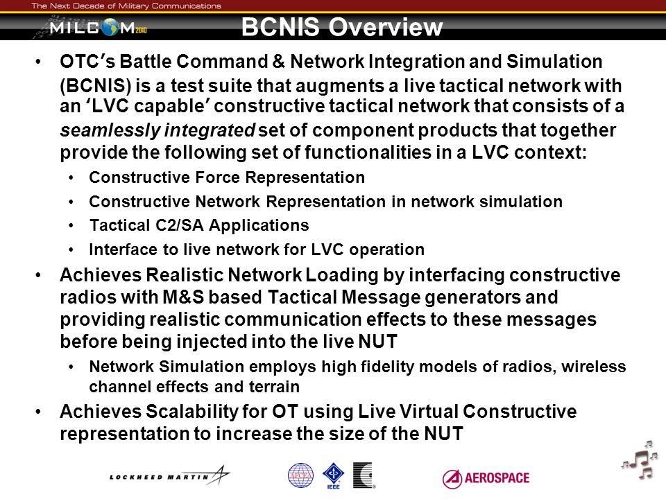 BCNIS Overview