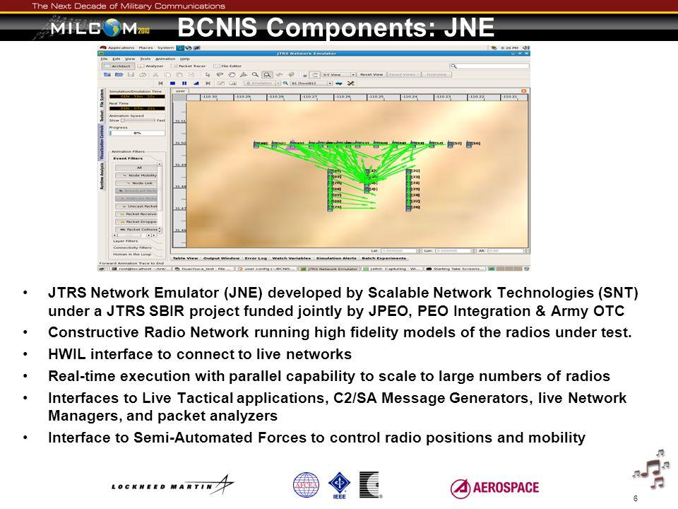 BCNIS Components: JNE