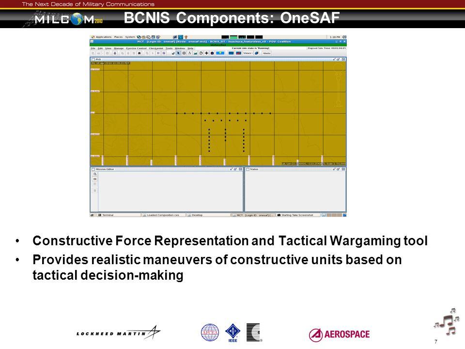 BCNIS Components: OneSAF