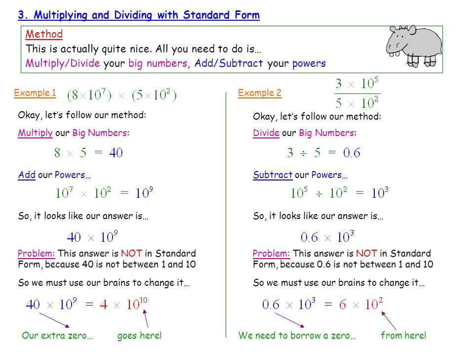 3. Multiplying and Dividing with Standard Form