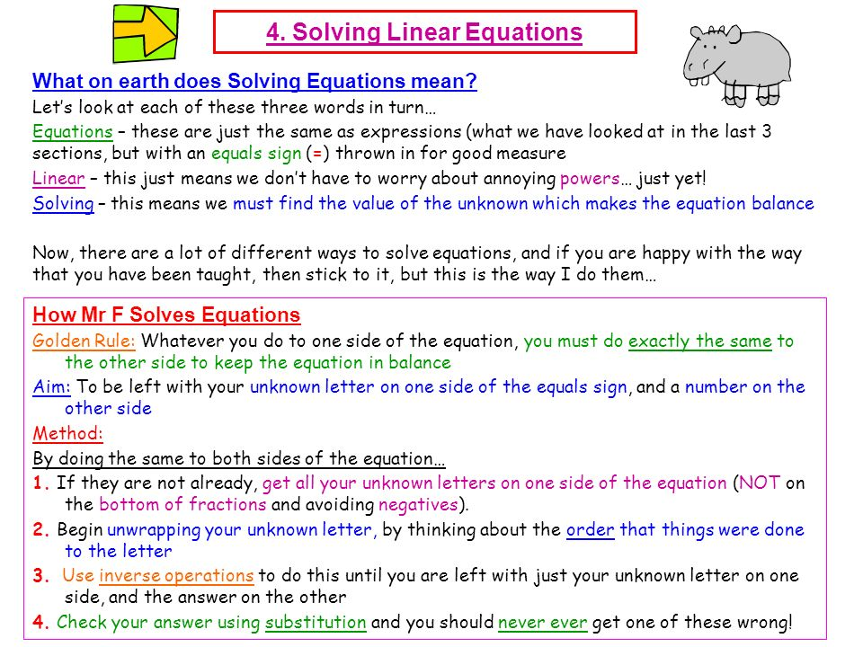 4. Solving Linear Equations