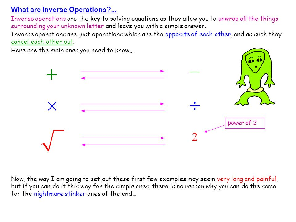What are Inverse Operations ...