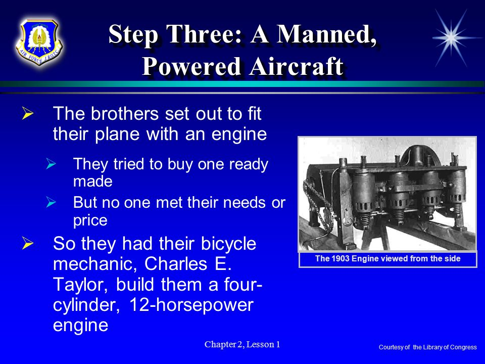 Step Three: A Manned, Powered Aircraft
