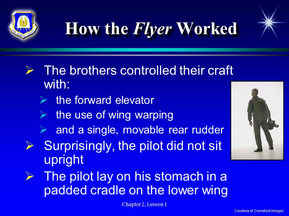 How the Flyer Worked The brothers controlled their craft with: