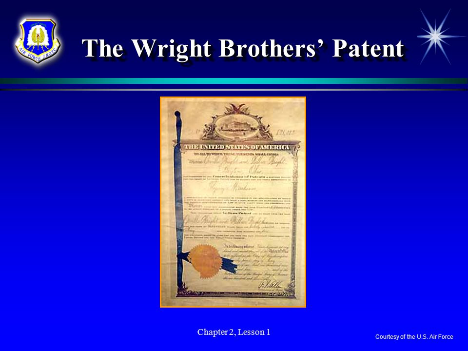 The Wright Brothers' Patent