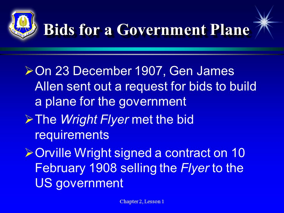 Bids for a Government Plane