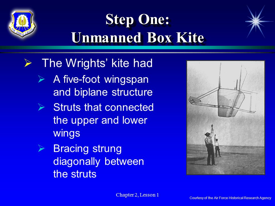 Step One: Unmanned Box Kite