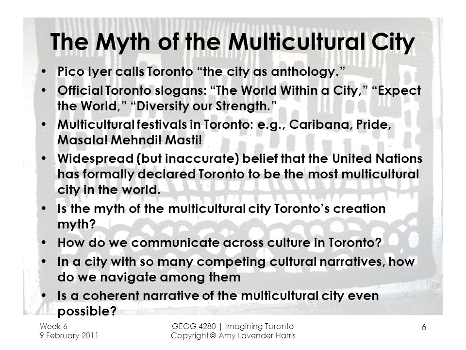 The Myth of the Multicultural City