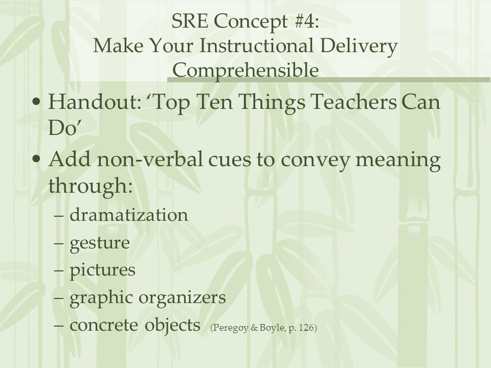 SRE Concept #4: Make Your Instructional Delivery Comprehensible