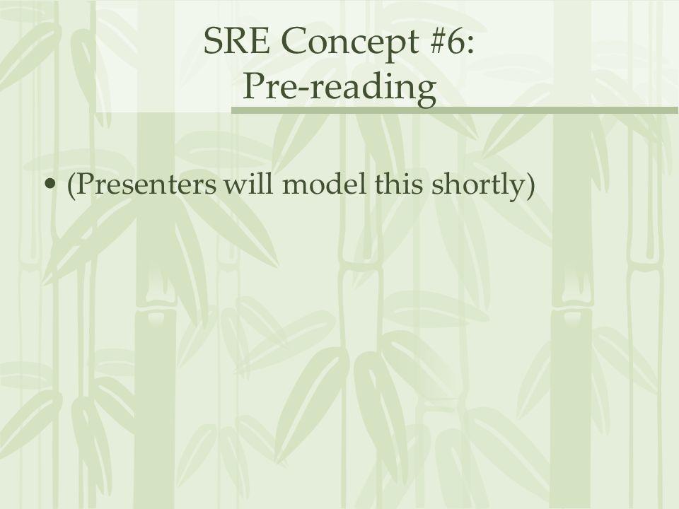 SRE Concept #6: Pre-reading