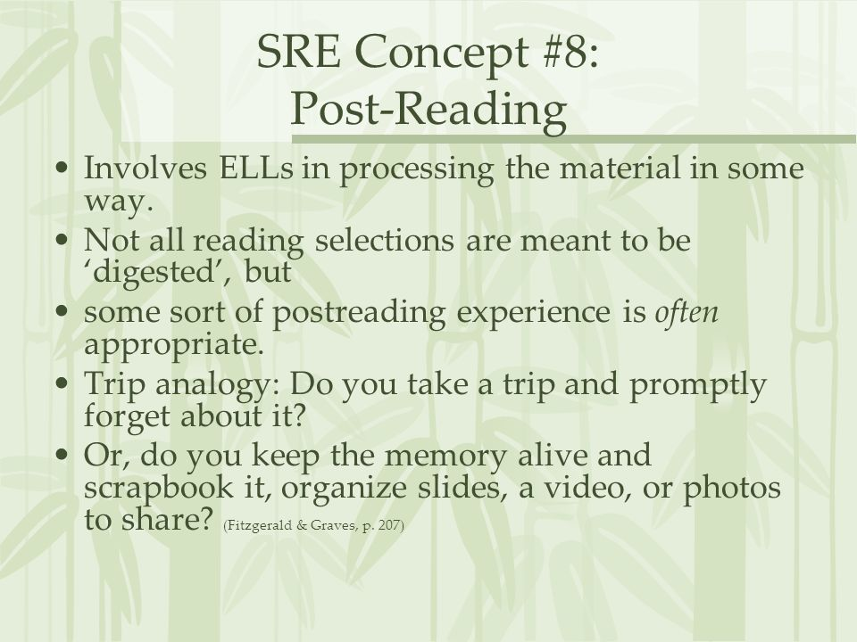 SRE Concept #8: Post-Reading
