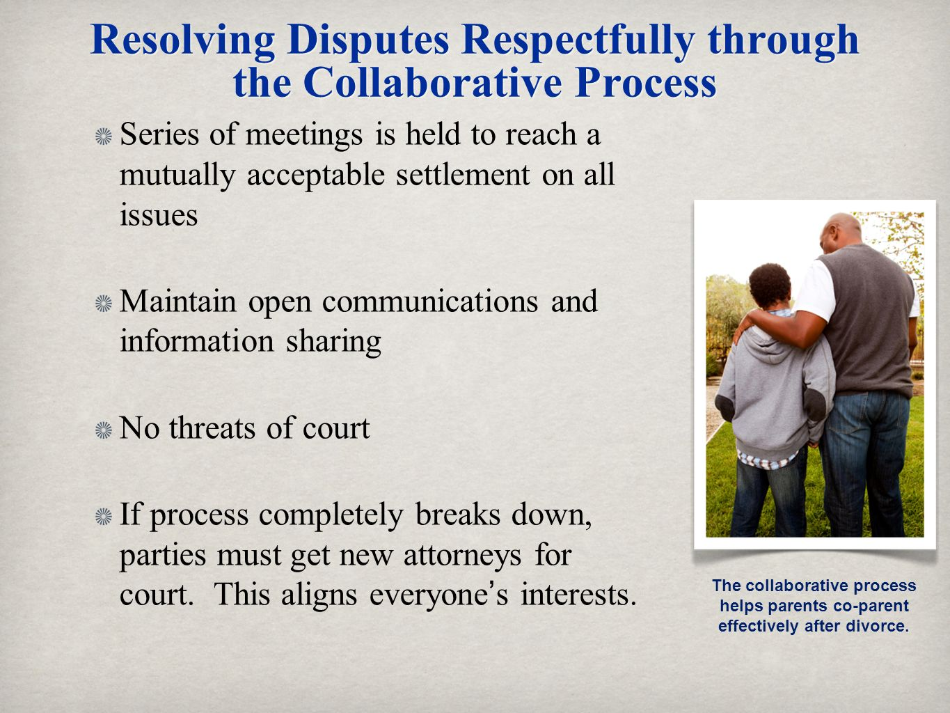 Resolving Disputes Respectfully through the Collaborative Process