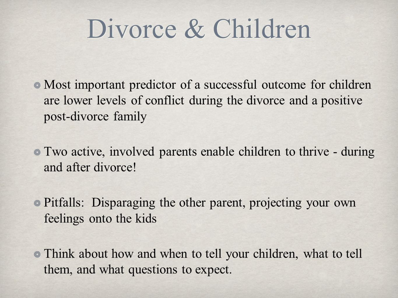 Divorce & Children
