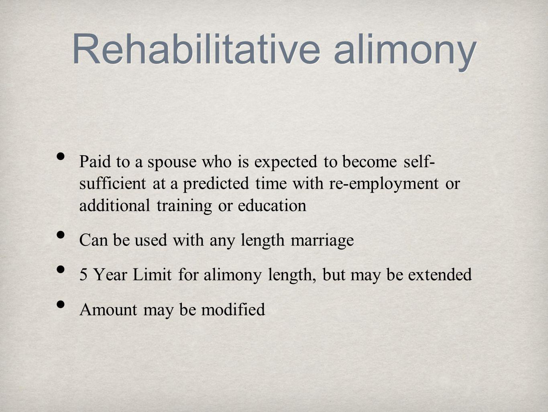 Rehabilitative alimony